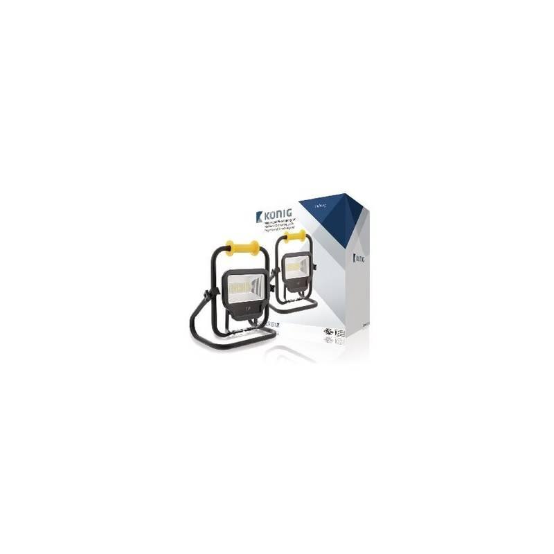 Projecteur led mobile rechargeable 50w 4000 lumens for Eclairage exterieur led rechargeable