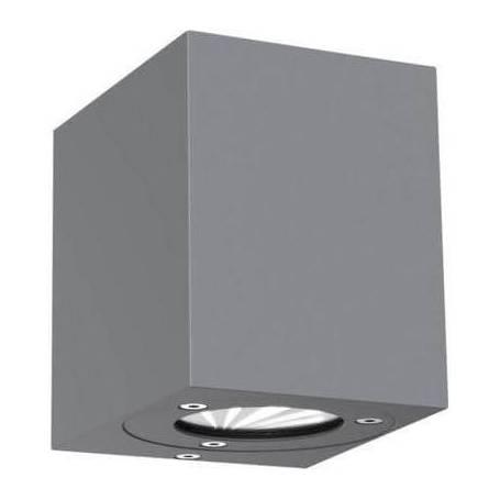 applique murale led exterieure cube acier inoxydable 2x5w. Black Bedroom Furniture Sets. Home Design Ideas