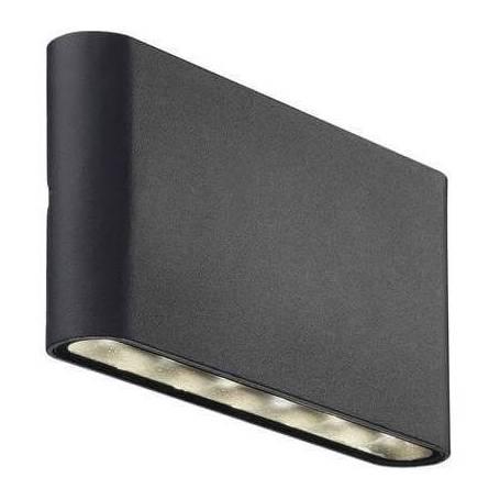 Applique murale led exterieure plate noir 6W
