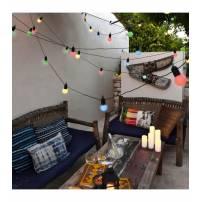 Guirlande lumineuse led Guinguette Multicolore 9M raccordable