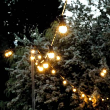 Guirlande lumineuse guinguette 10m vintage ampoule filament led