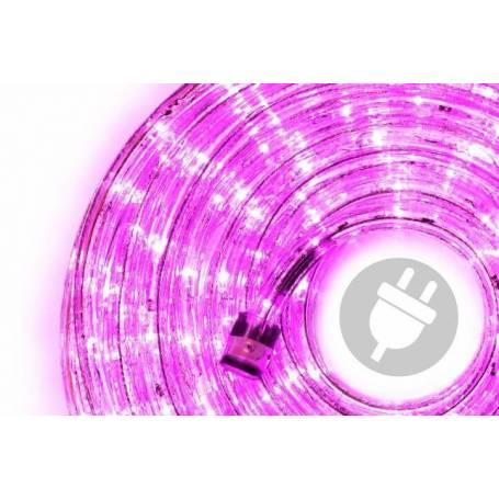 cordon lumineux led 30 mètres rose