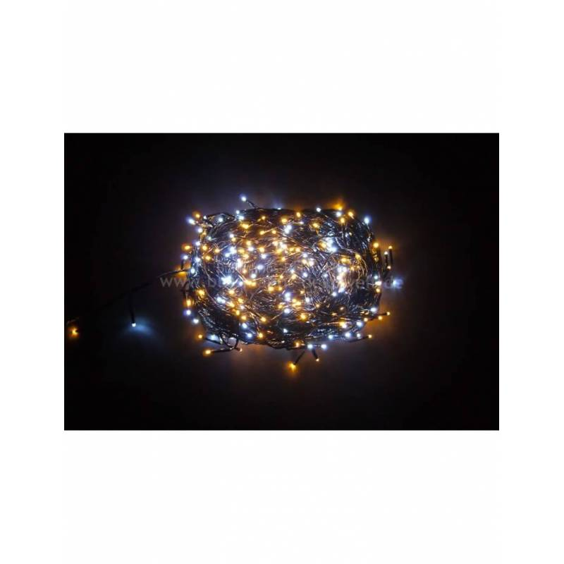 Guirlande LED bi-color 36M 480 leds 8 programmes
