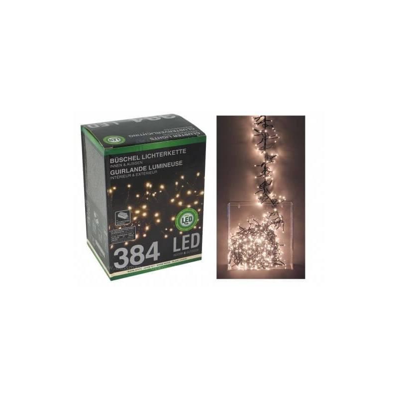 Guirlande grappe 2,5M 384 LED blanc chaud 8 programmes