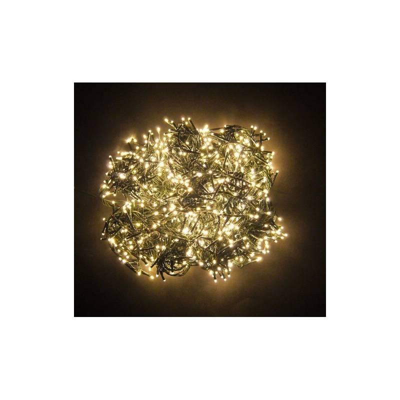 Guirlande spécial sapin de Noël 223 LED 7 branches blanc chaud 8 animations