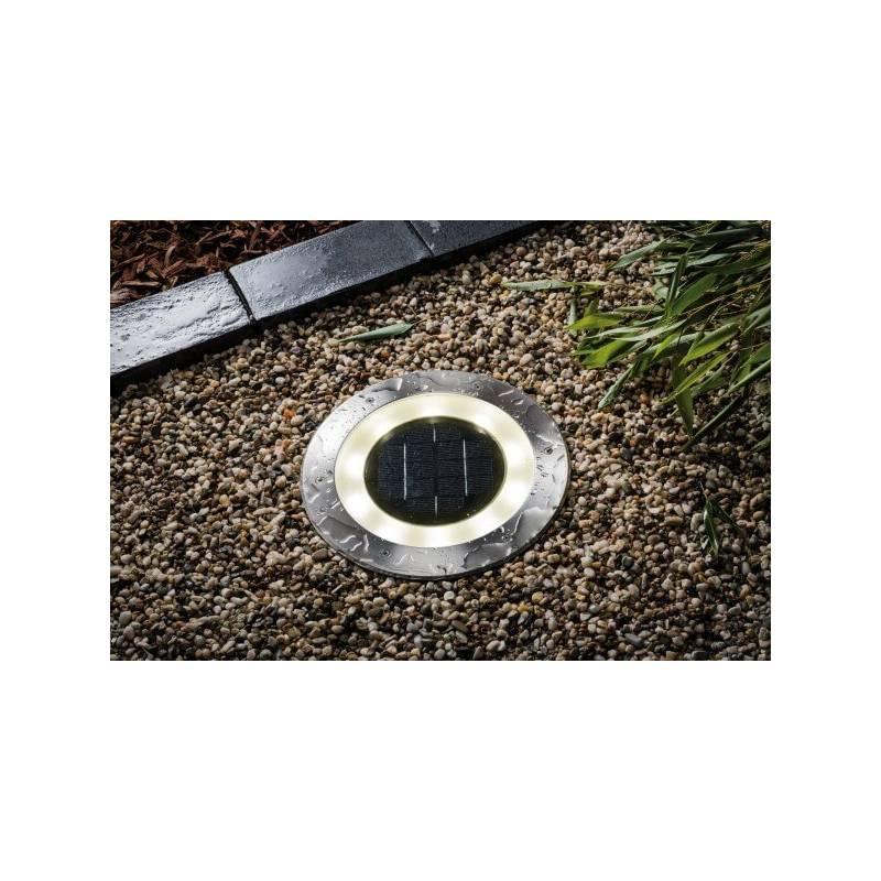 Spot LED encastrable solaire Inox blanc chaud IP 67 professionnel