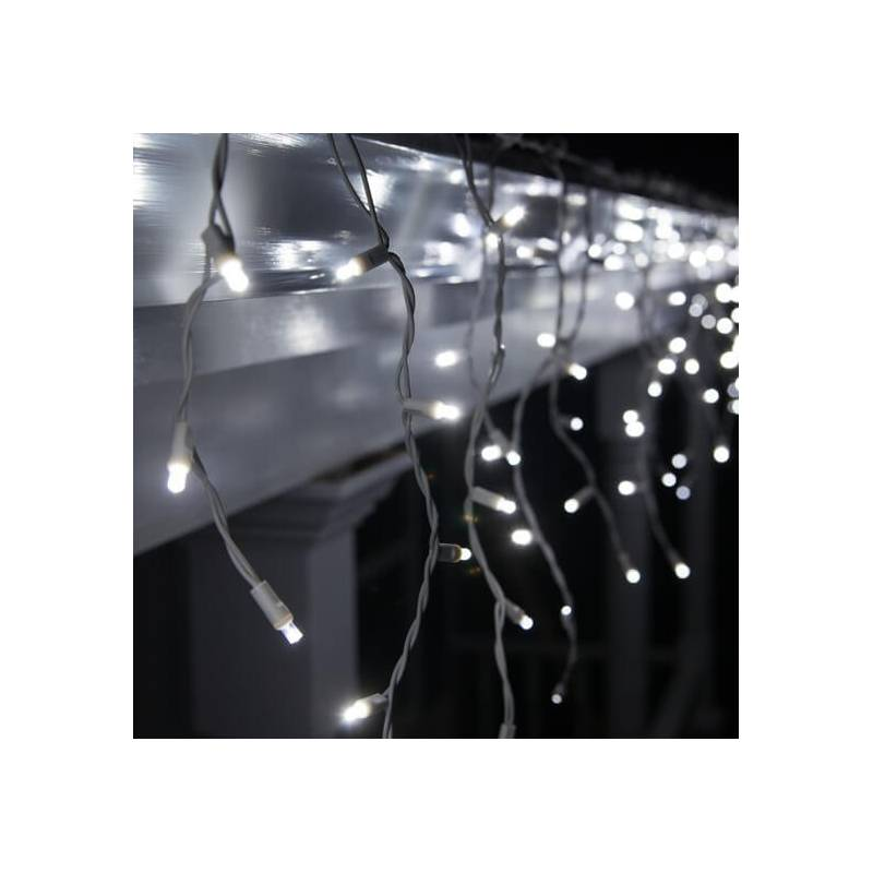 Guirlande LED stalactite 3M blanc froid raccordable professionnelle