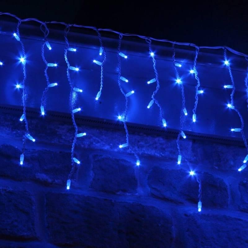 Guirlande LED stalactite 3M bleu raccordable professionnelle