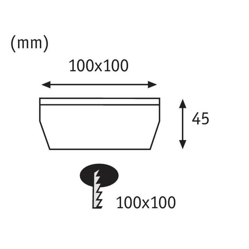 schema montage spot solaire carre paulmann