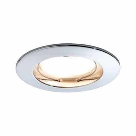 Spot encastrable led rond salle de bain led blanc chaud 7w chrome