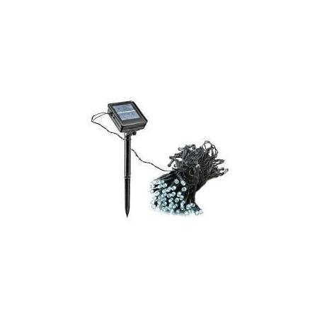 Guirlande led solaire 10M 100 leds blanc froid
