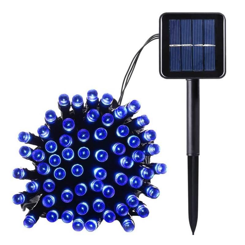 Guirlande led solaire 10M 100 leds bleu