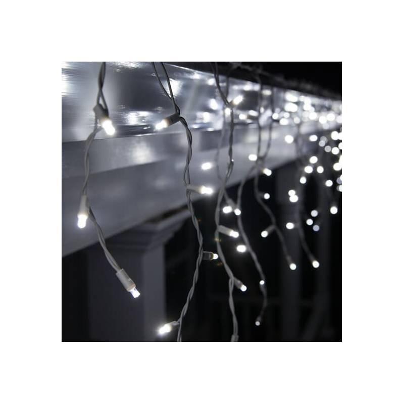 Guirlande LED stalactite flash 3M blanc froid raccordable professionnelle 230V