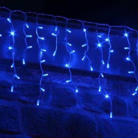 Guirlande LED stalactite flash 3M bleue et blanche raccordable professionnelle 230V