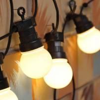 Guirlande Guinguette LED 10M 20 globes Blanc chaud