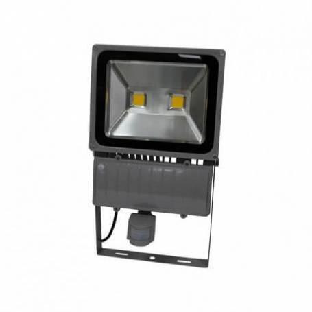 Projecteur led gris détecteur de mouvement 100w blanc chaud professionnel