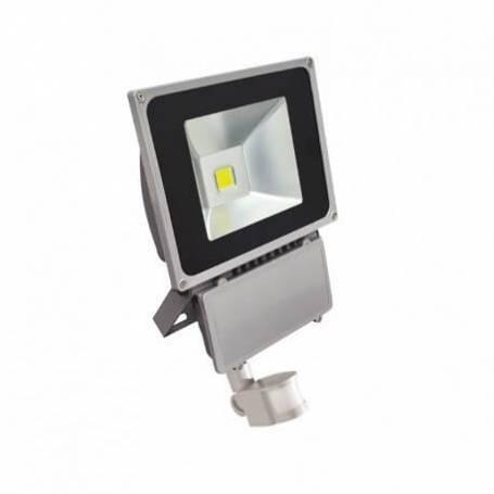 Projecteur led gris détecteur de mouvement 80w blanc chaud