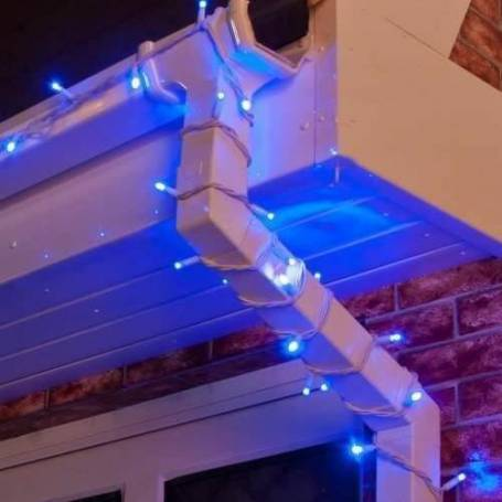 Guirlande lumineuse LED 6M bleue raccordable professionnelle