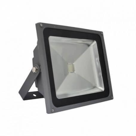 Projecteur led gris 50w rgb télécommande changement de couleur