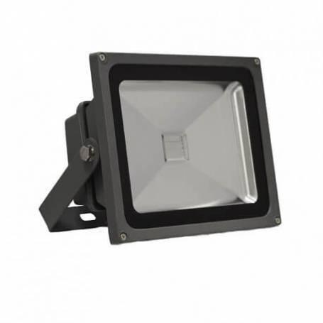 Projecteur led gris 30w rgb changement de couleur