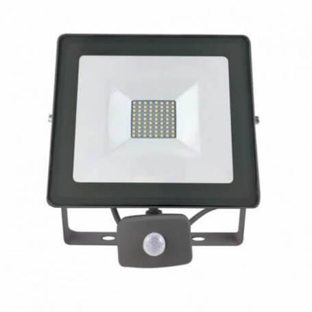 Projecteur led gris détecteur de mouvement professionnel 50w blanc naturel