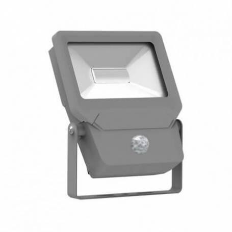 Projecteur led plat gris détecteur de mouvement professionnel 50w blanc chaud