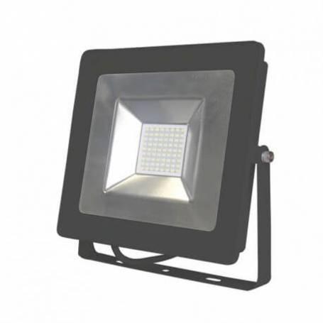 Projecteur led plat gris 50w blanc naturel ip65