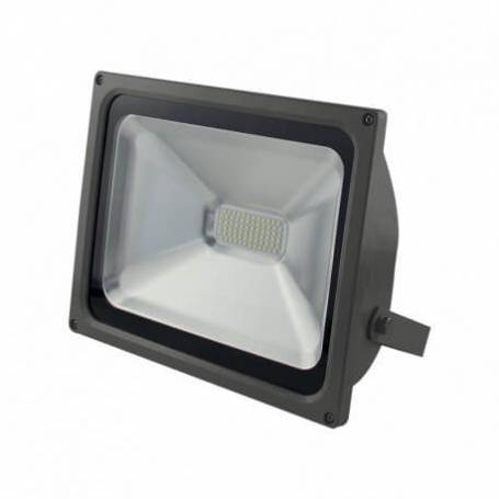 Projecteur led gris plat 50w blanc chaud