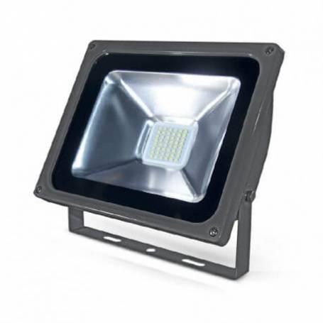 Projecteur 12/24 vdc 30 watt blanc froid plat gris ip65