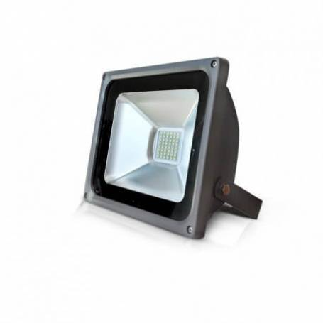 Projecteur led plat gris 30w blanc froid