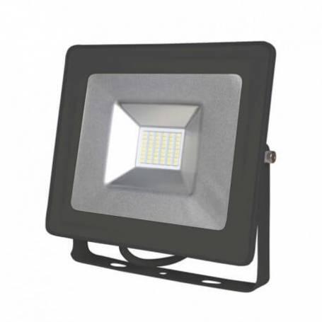 Projecteur led 230v plat gris 30w blanc naturel ip65