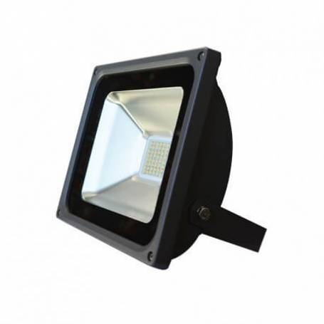 Projecteur led gris plat 30w blanc chaud