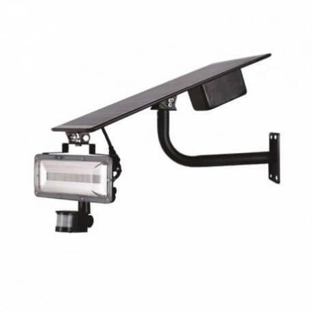 Projecteur détecteur de mouvement solaire 20W LED blanc naturel IP65 professionnel