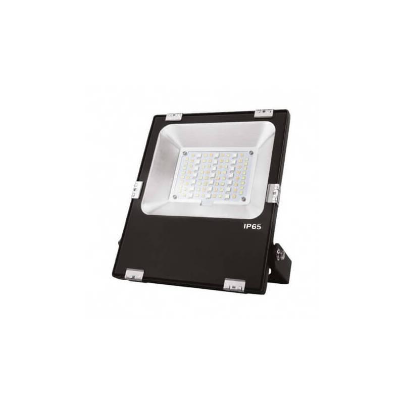 Projecteur led 30w RGBW et blanc noir extérieur professionnel