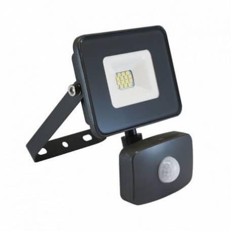 Projecteur led gris détecteur de mouvement 10w blanc naturel