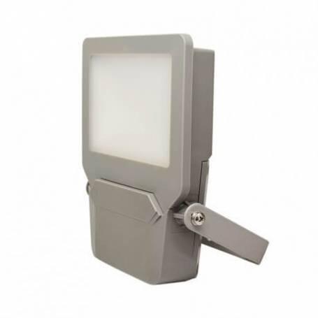 Projecteur led plat gris 10w blanc chaud