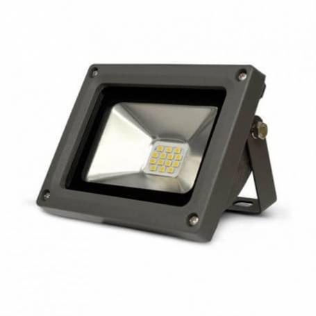 Projecteur led gris 10w blanc chaud professionnel
