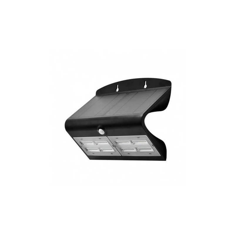 Applique murale led solaire 6.8w blanc naturel noir détecteur de mouvement professionnelle professionnel