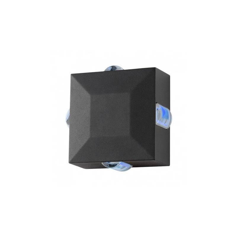 Applique murale carré led 6w diffuseur bleu gris extérieur professionnelle professionnel
