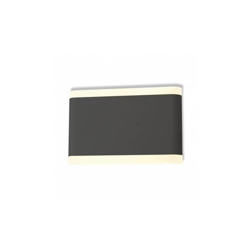 Applique murale led 10w175mm blanc chaud gris anthracite extérieur professionnel
