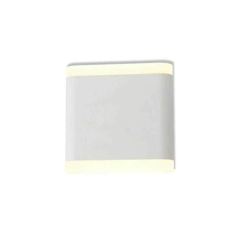 Applique murale led 6w 530 lm 115mm carré blanc naturel blanc extérieur professionnel