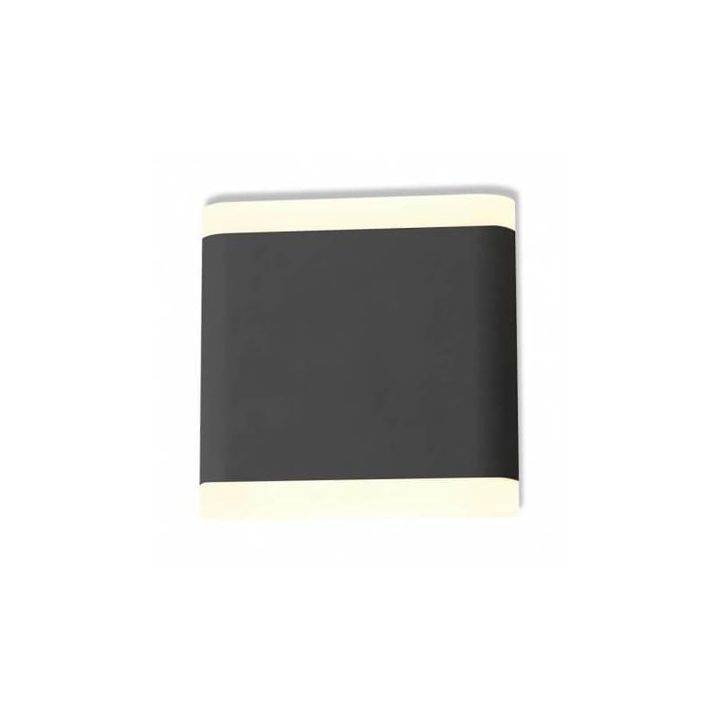 Applique murale led 6w 530 lm 115mm carré blanc naturel gris anthracite extérieur professionnel