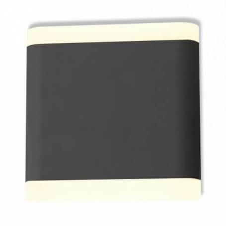Applique murale led 6w 530 lm 115mm carré blanc naturel gris anthracite extérieur