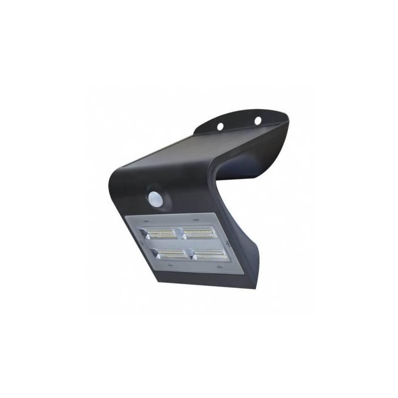 Applique solaire murale led solaire 3.2w blanc naturel noir détecteur de mouvement professionnel