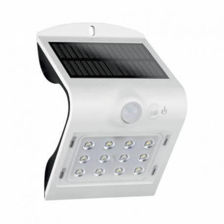 Applique extérieur murale led solaire 1.5w blanc naturel blanc détecteur de mouvement