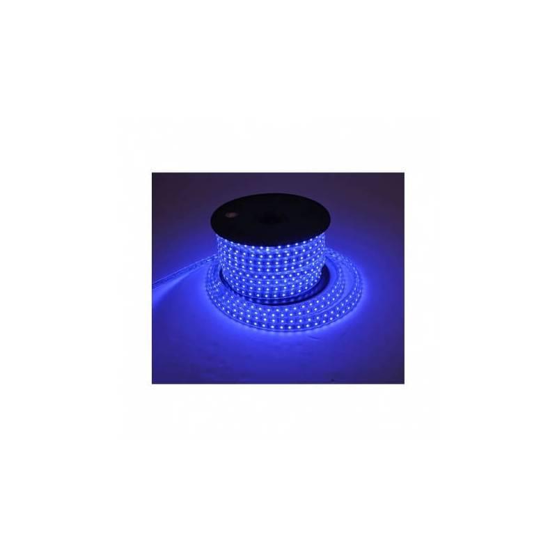 Bandeau lumineux led bleu 50 mètres extérieur professionnel