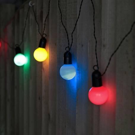 Guirlande lumineuse Guinguette Multicolore 9M led raccordable