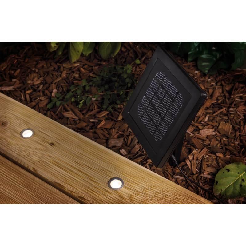 Kit 5 mini spots extérieur sol système alimentation solaire professionnel