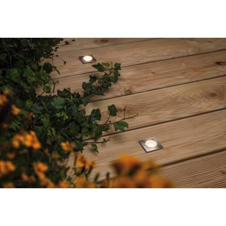 Mini Spot led extérieur encastré sol carré acier inoxydable par 4 professionnel