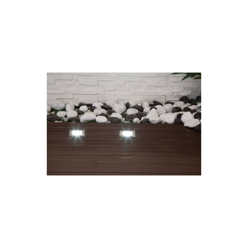 Spot LED encastrable extérieur carré blanc chaud 5W professionnel